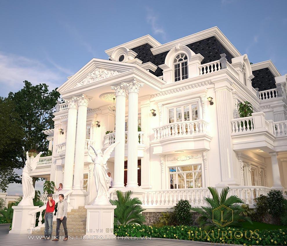 Mẫu thiết kế dinh thự tân cổ điển đẹp tại Phú thọ