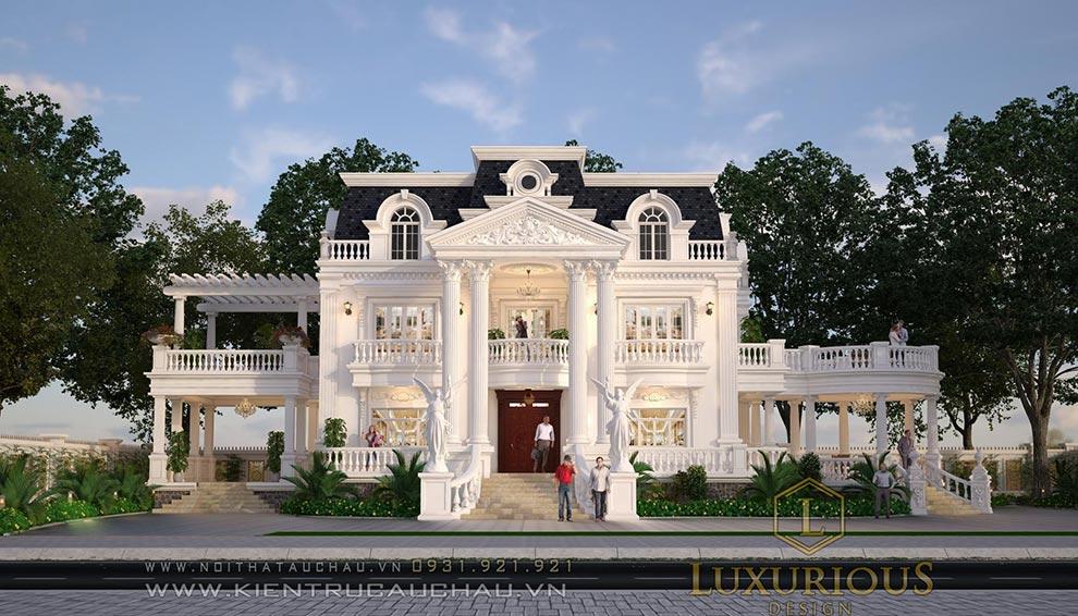 Thiết kế kiến trúc dinh thự phú thọ