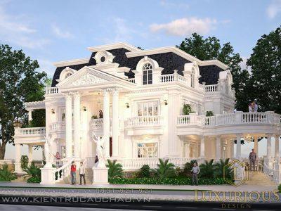 Mẫu thiết kế kiến trúc dinh thự 2 tầng phong cách Hy Lạp