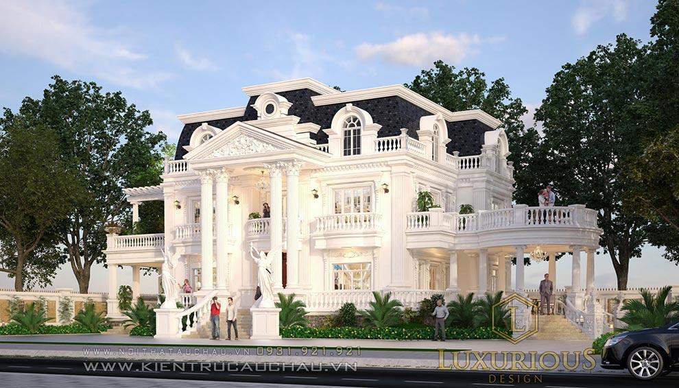 Thi công kiến trúc dinh thự Phú Thọ