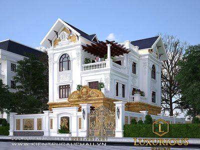 Mẫu thiết kế kiến trúc nhà phố 3 tầng tại Bắc Ninh