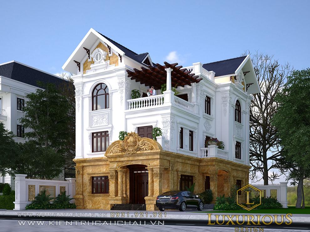 Mẫu thiết kế kiến trúc biệt thự tân cổ điển bắc ninh