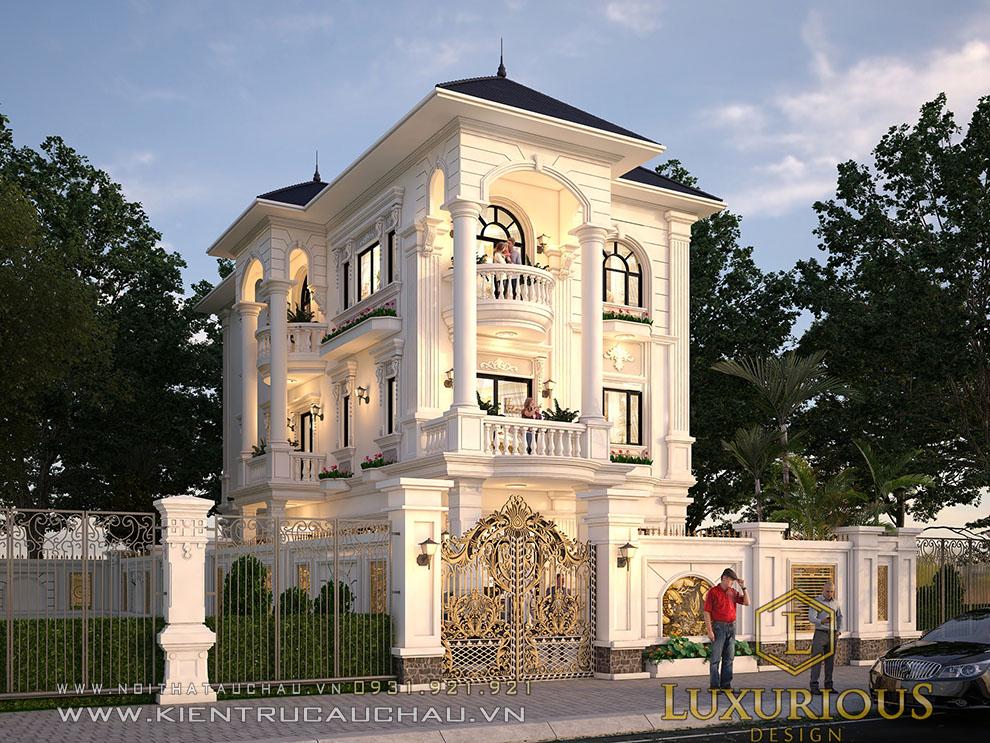Mẫu thiết kế kiến trúc biệt thự tân cổ điển Đà Nẵng