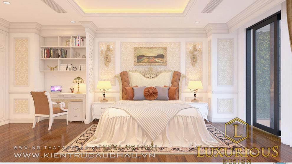 Giường ngủ tân cổ điển căn hộ chung cư