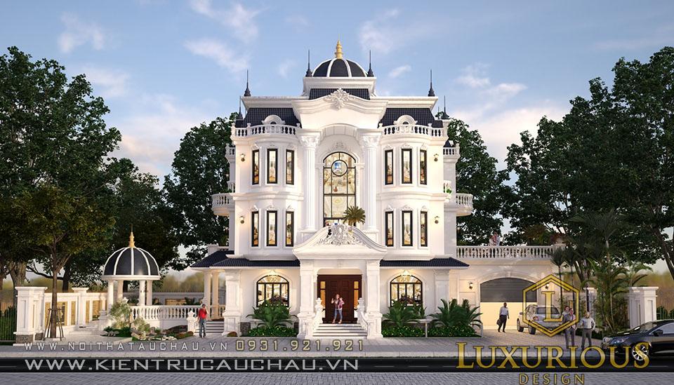 Thiết kế kiến trúc dinh thự tân cổ điển hà tĩnh
