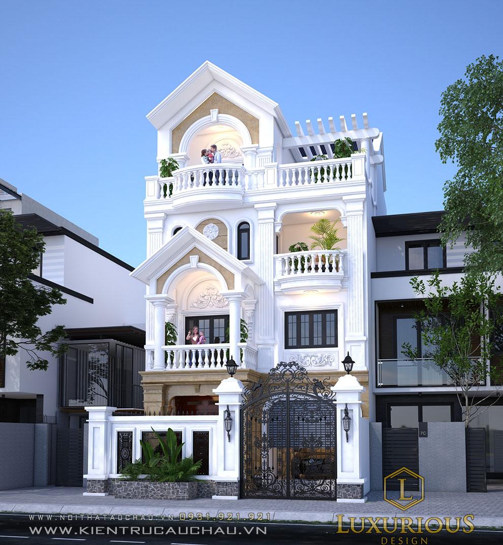 Thiết kế kiến trúc biệt thự Hà Nội phong cách tân cổ điển
