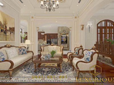 Thiết kế nội thất biệt thự 3 tầng tân cổ điển Hà Tĩnh