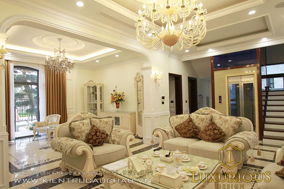 Phòng khách biệt thự vinhomes