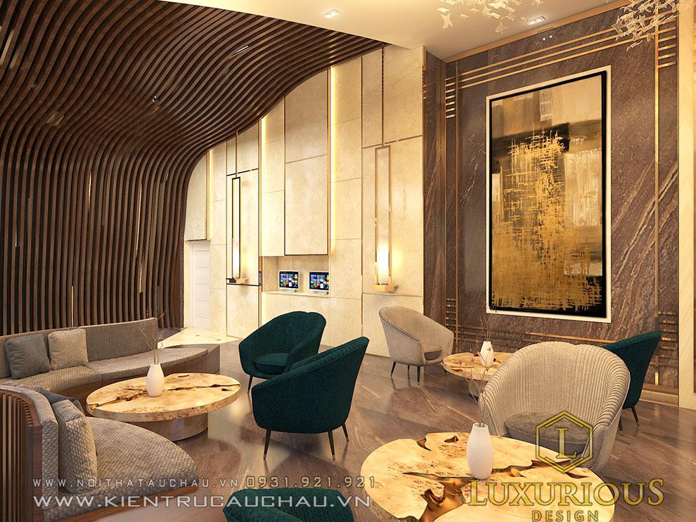 Thiết Kế Nội Thất Sảnh Khách Sạn Ở Nha Trang Mang Phòng Cách Tân Cổ Điển