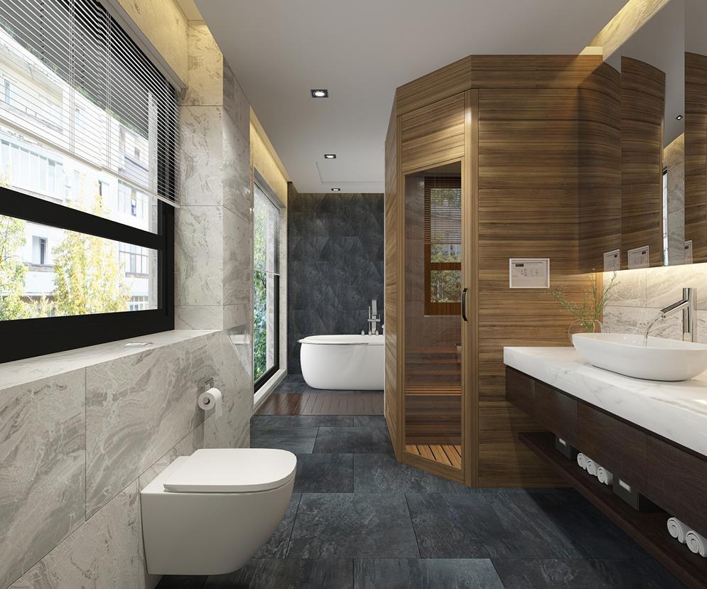 Thiết kế phòng vệ sinh có xông hơi