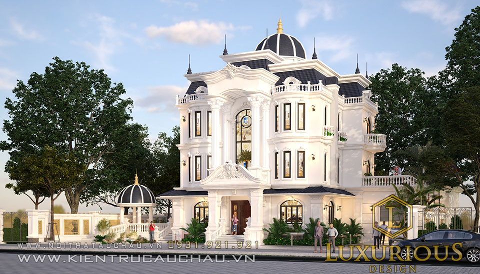 Thiết kế kiến trúc dinh thự mặt tiền