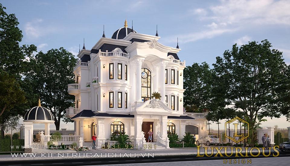 Thiết kế dinh thự tân cổ điển đẳng cấp