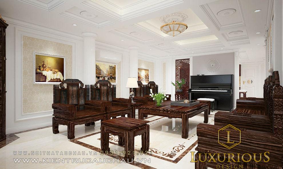 Mẫu ghế sofa nội thất tân cổ điển