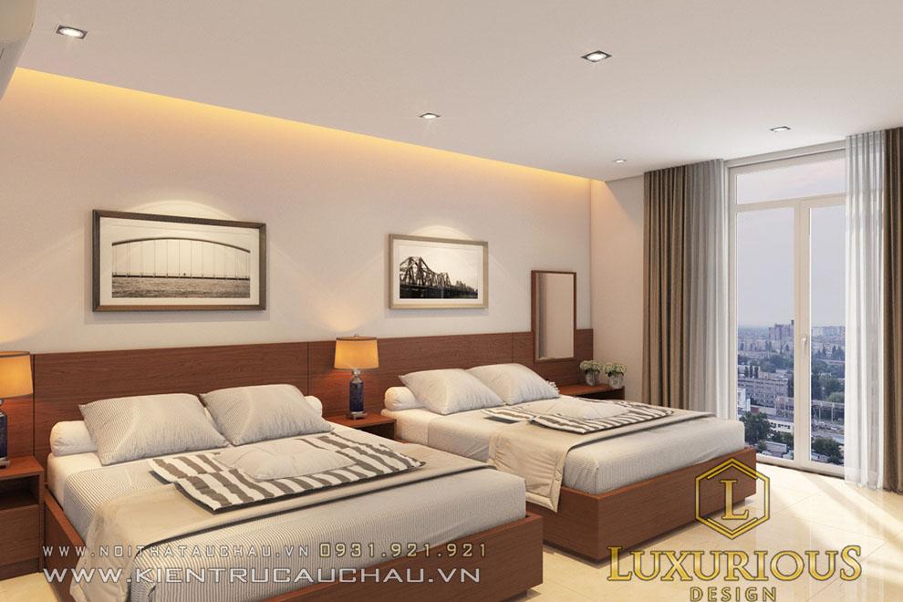 Phòng ngủ khách sạn 2 giường đôi