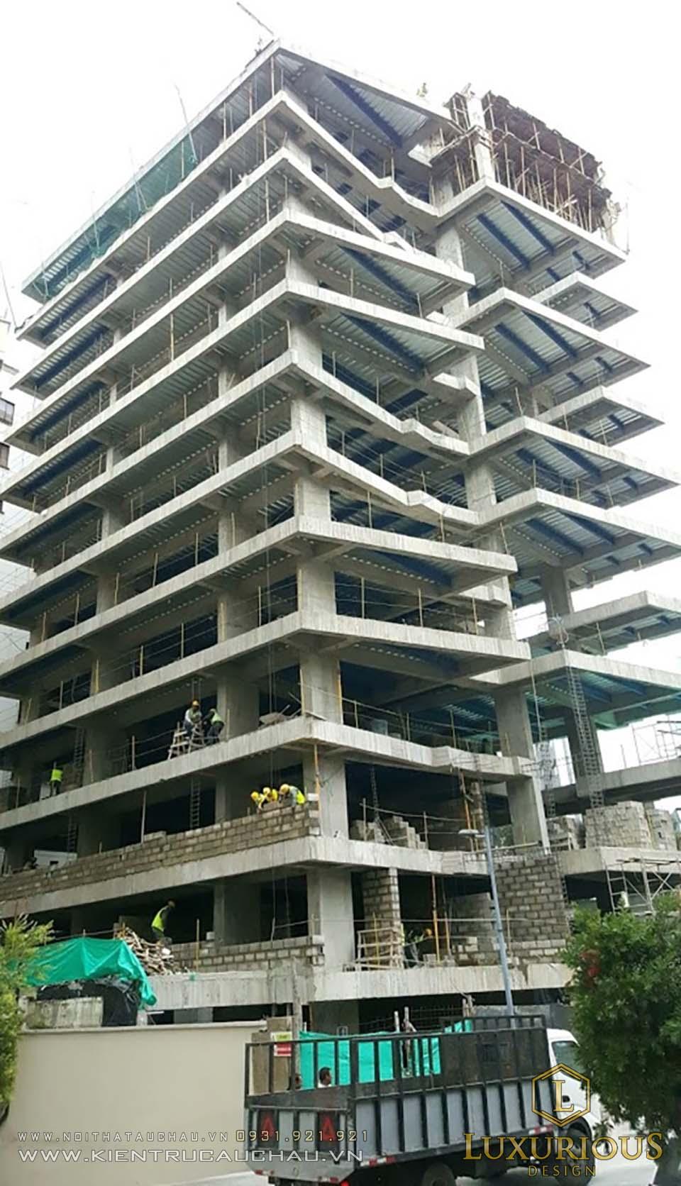 Thi công xây dựng khách sạn nha trang