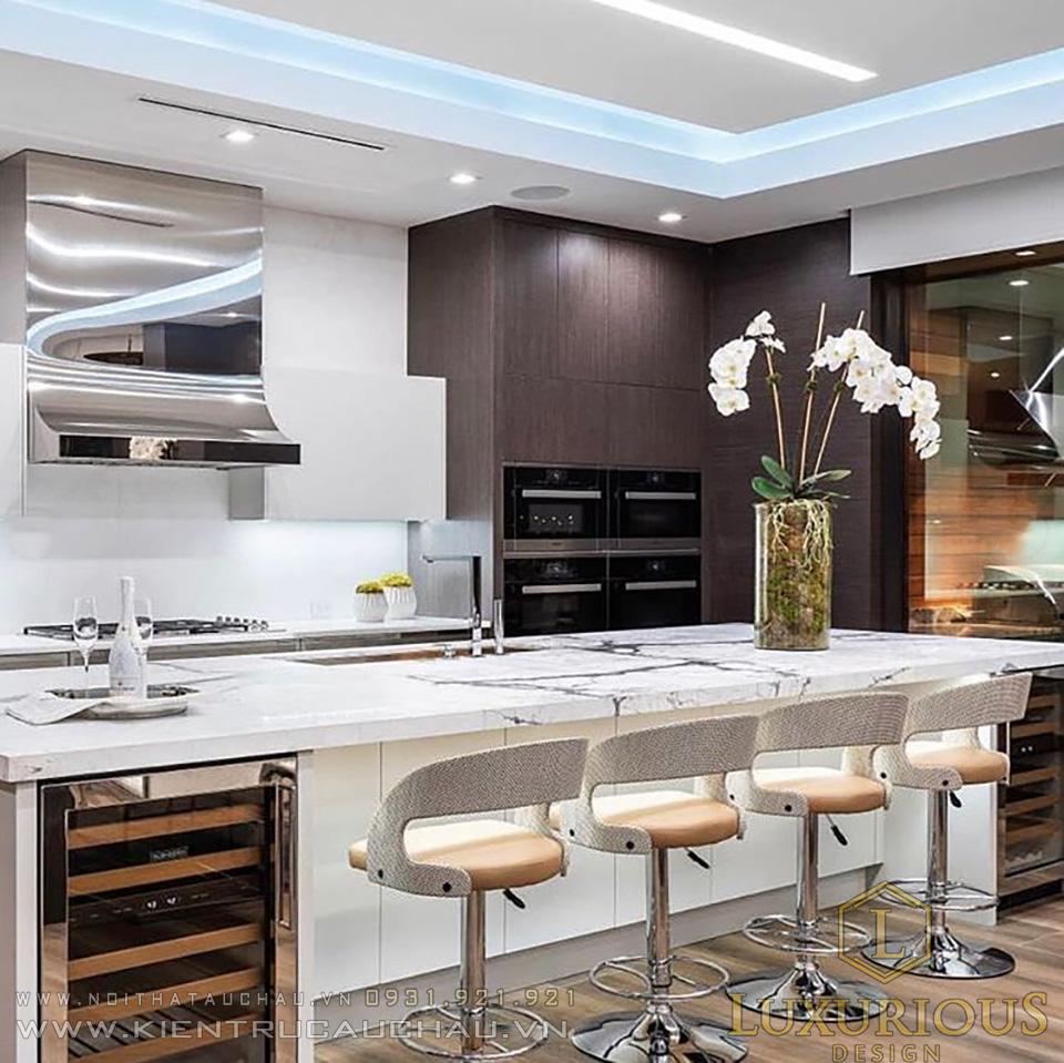 Mẫu bếp biệt thự hiện đại đẹp