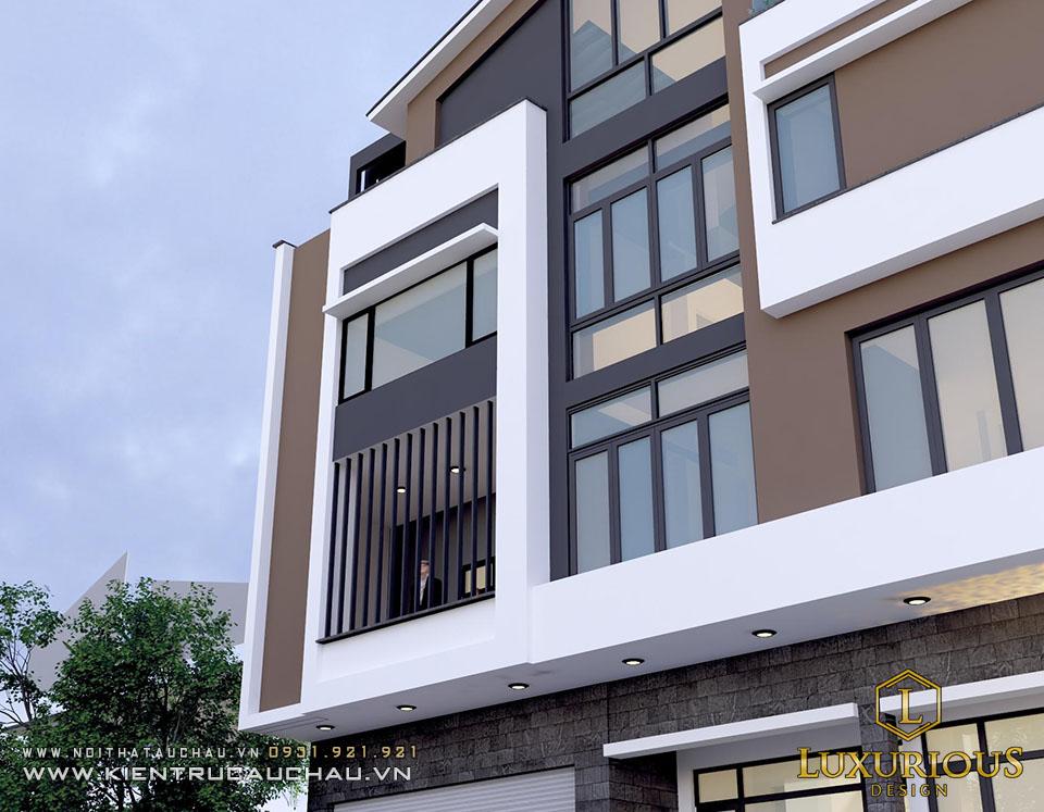 Mẫu kiến trúc nhà phố 4 tầng bắc ninh