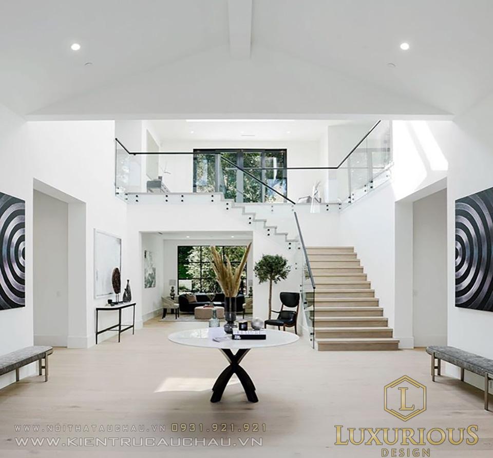 Mẫu thi công biệt thự vườn mái thái 2 tầng