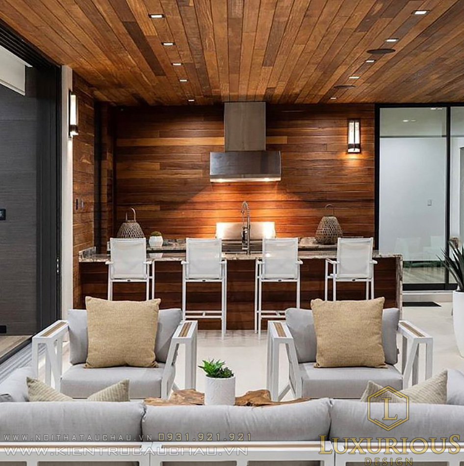 Phòng bếp biệt thự nghỉ dưỡng