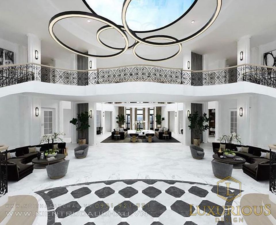 Phòng khách biệt thự nghỉ dưỡng