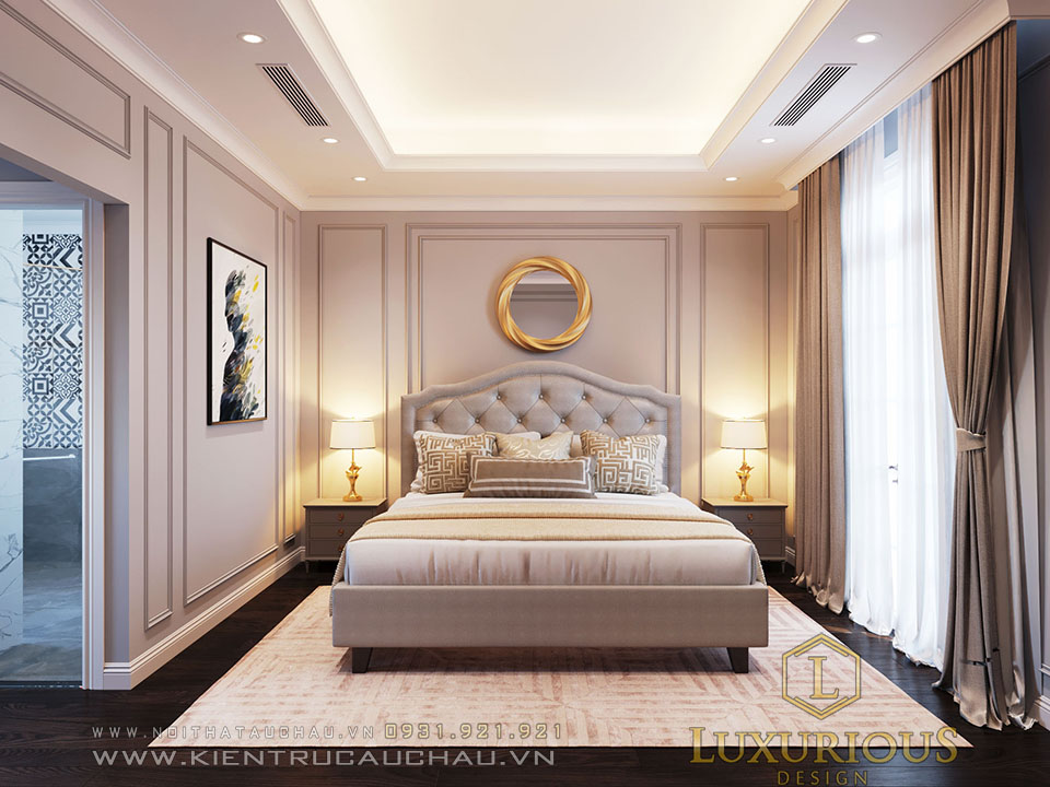 Phòng ngủ cho con gái sang trọng