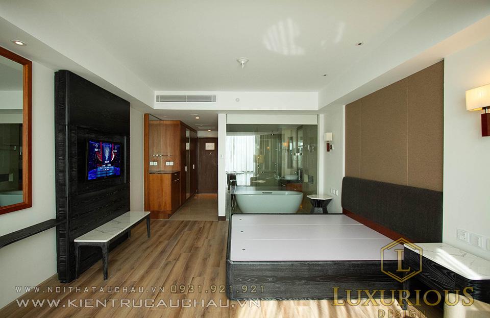 Thi công phòng ngủ khách sạn 5 sao