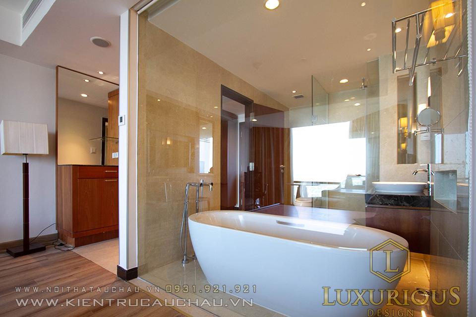 Thi công phòng tắm khách sạn 5 sao