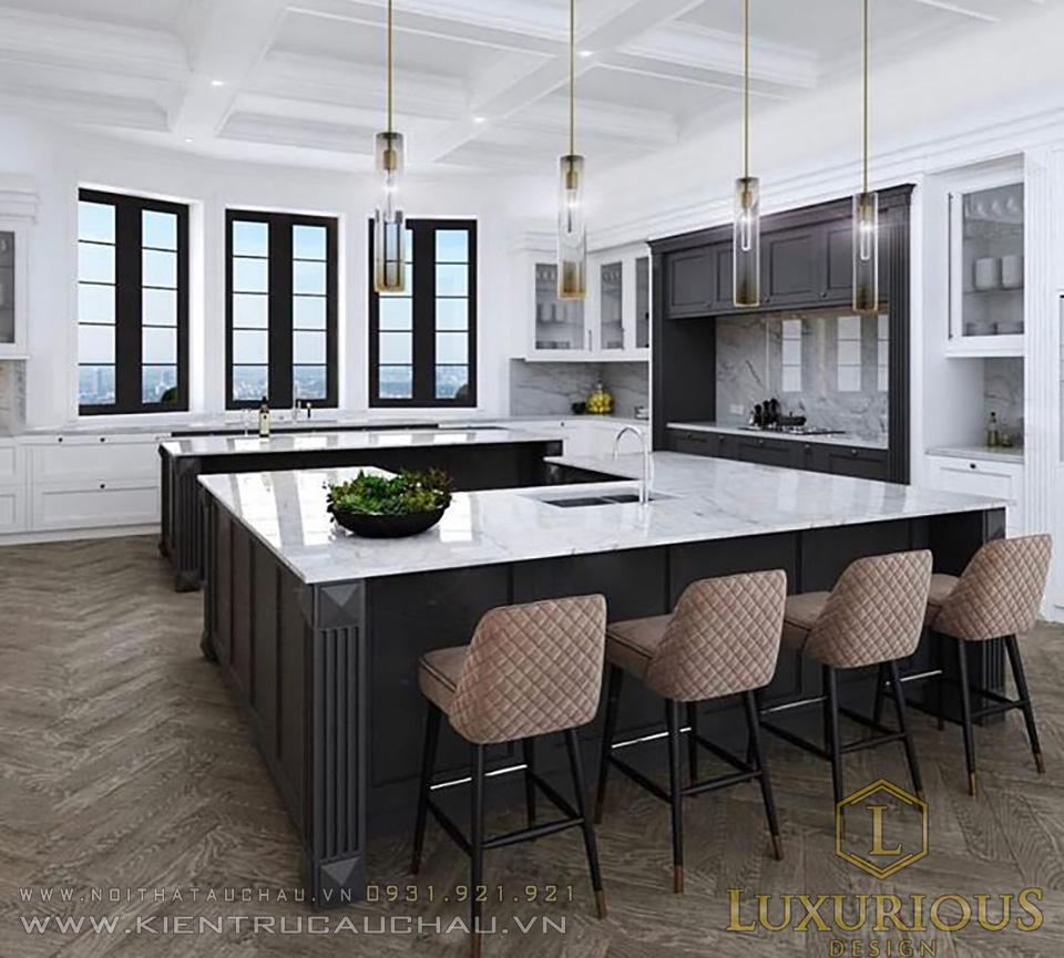 Thiết kế phòng bếp biệt thự hiện đại
