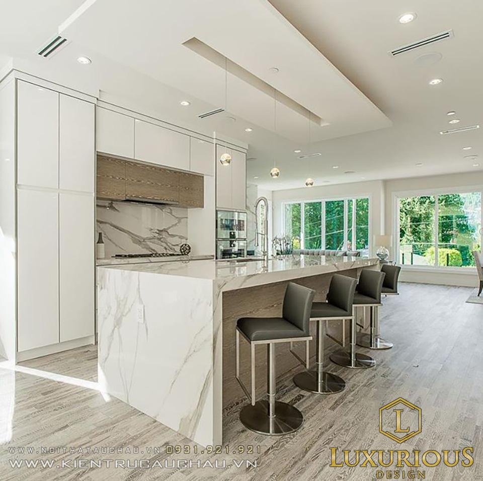 Thiết kế phòng bếp dinh thự hiện đại