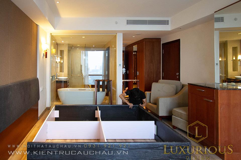 Thợ thi công lắp đặt nội thất khách sạn