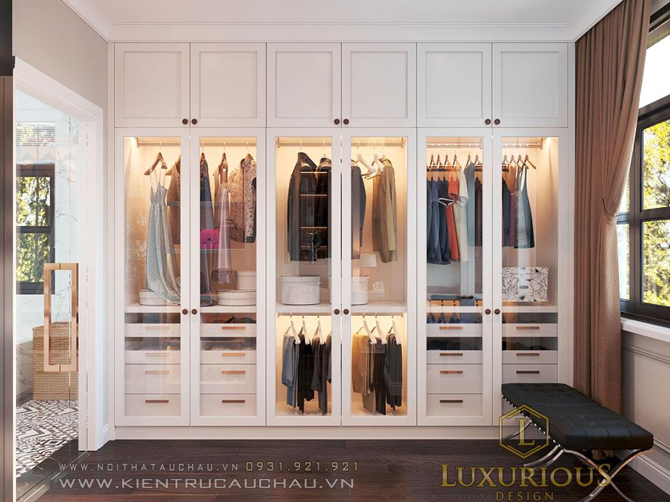 Tủ quần áo biệt thự Vinhomes