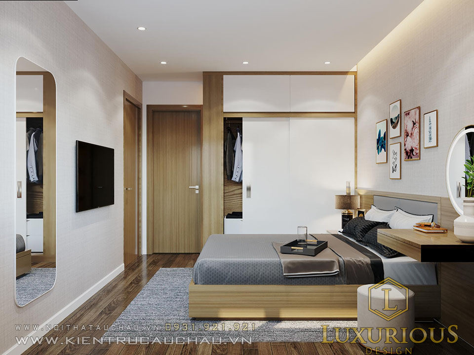 Mẫu phòng ngủ chung cư Skycentral