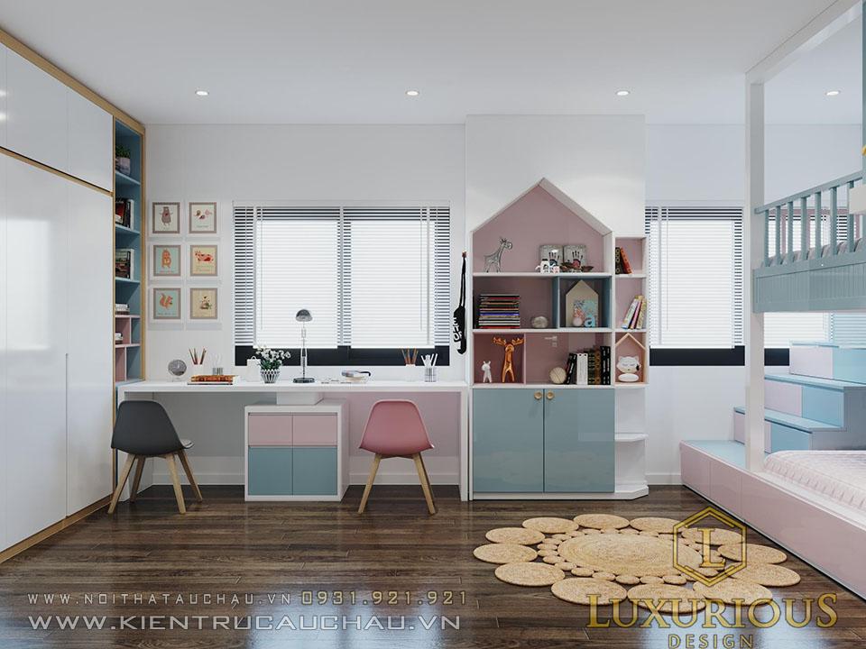 Phòng ngủ cho con gái chung cư Sky Central 176 định công