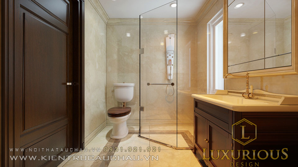 Phòng vệ sinh biệt thự đẹp