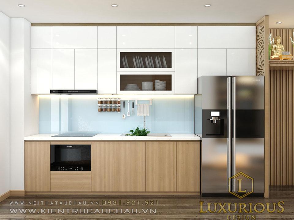 thiết kế bếp chung cư 176 định công Sky Central