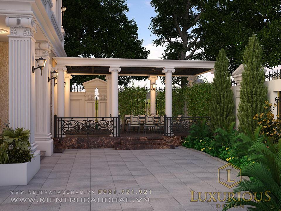 Mẫu Sân vườn biệt thự Tân cổ điển