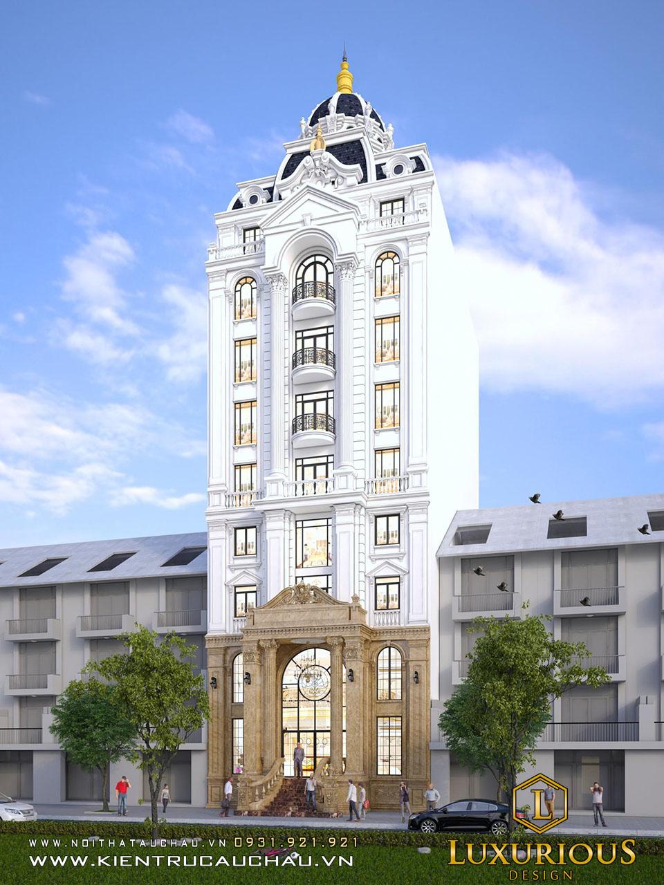 Công ty thiết kế khách sạn 9 tầng tân cổ điển