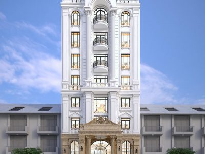 Mẫu Thiết Kế Khách Sạn 9 Tầng phong cách Tân Cổ Điển sang trọng