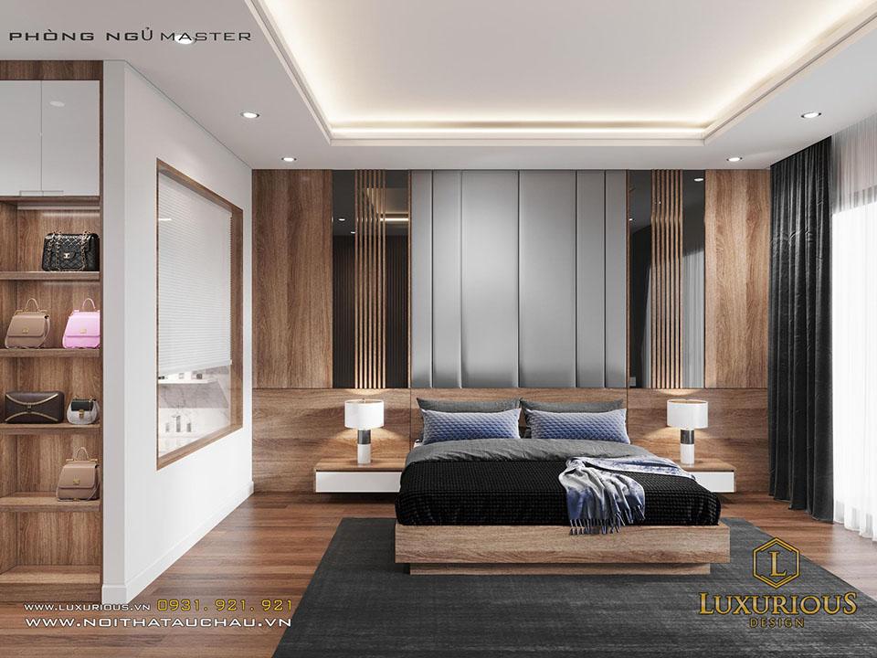 Nội thất phòng ngủ gỗ công nghiệp hiện đại