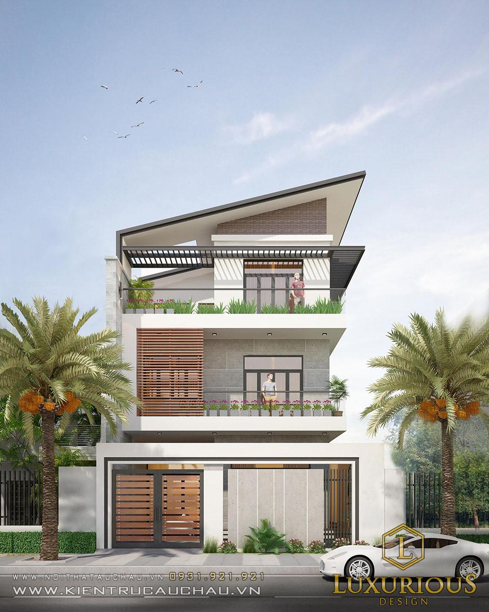 Thiết kế kiến trúc nhà phố 3 tầng hiện đại
