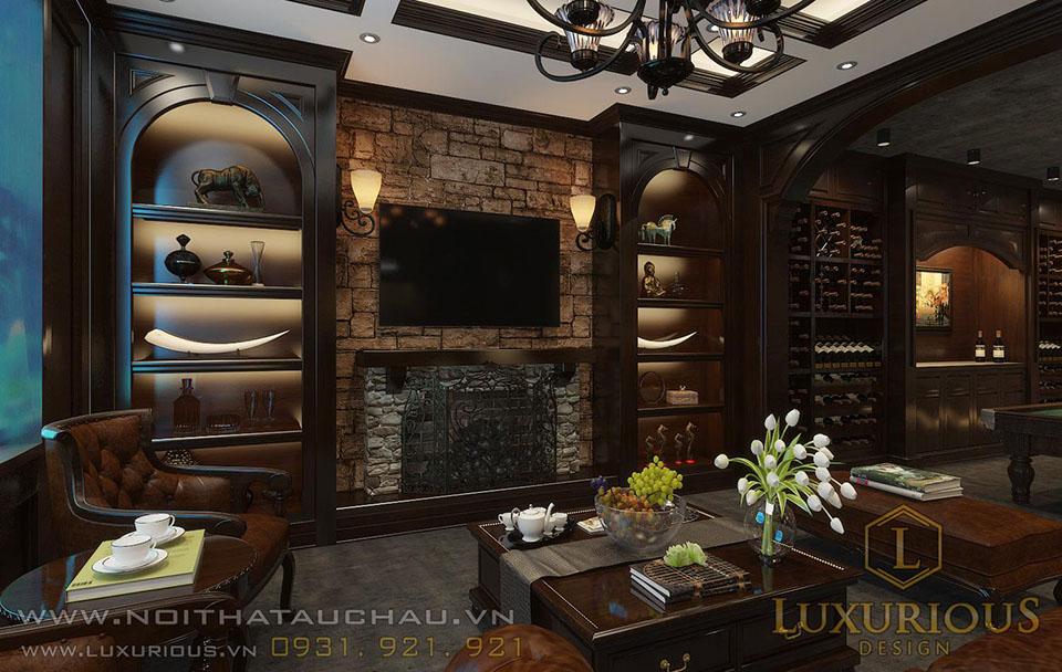 Thiết kế nội thất tầng hầm nhà phố