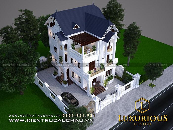 Sang trọng - Ấn tượng - Độc Đáo chưa đủ để giới thiệu về mẫu thiết kế nhà biệt thự này.