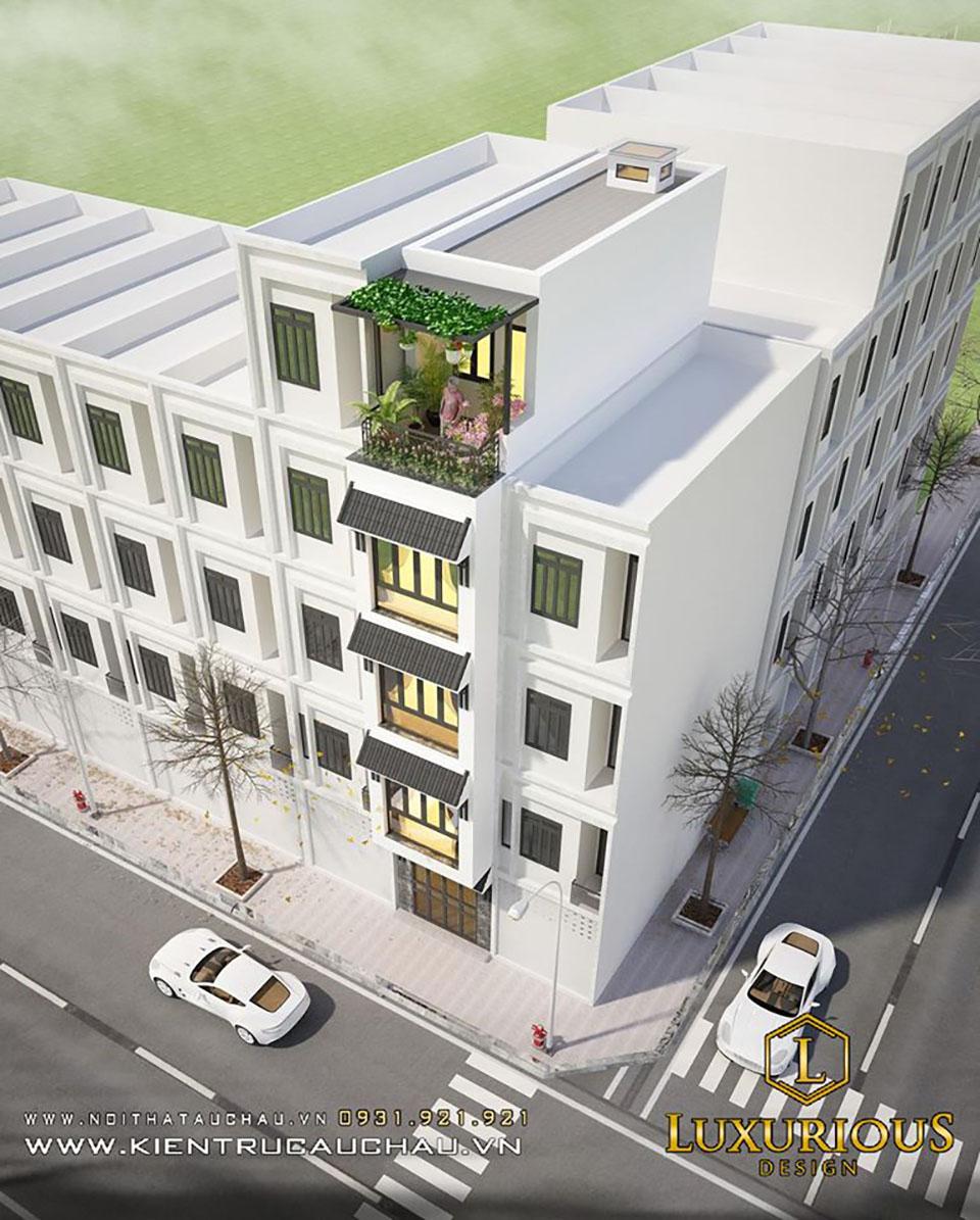 Mẫu kiến trúc nhà phố 5 tầng đẹp