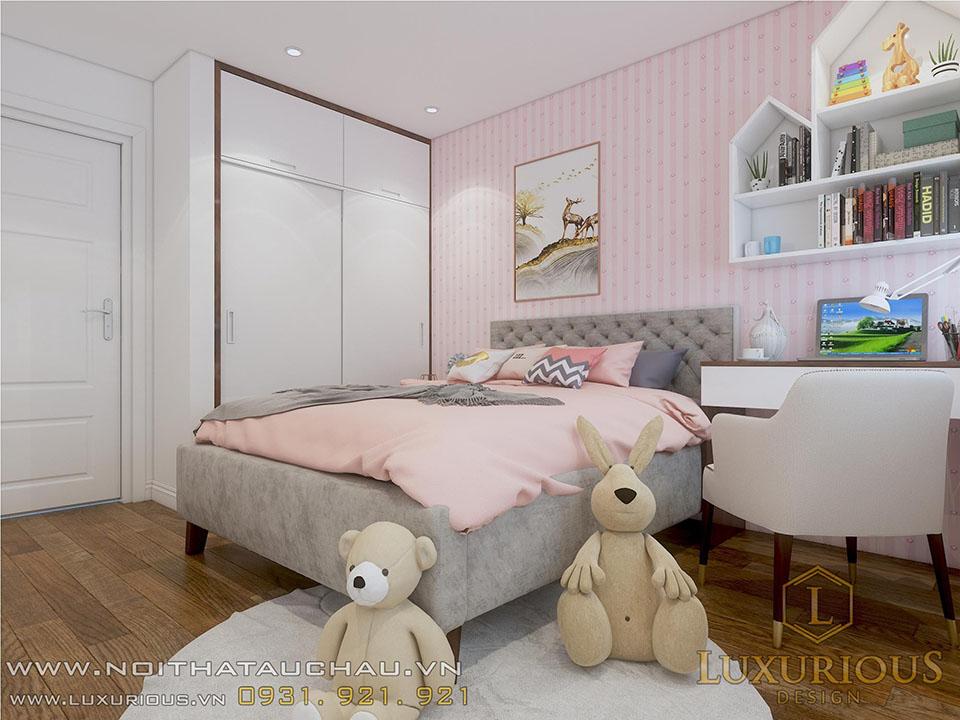 Mẫu thiết kế phòng ngủ chung cư cho trẻ
