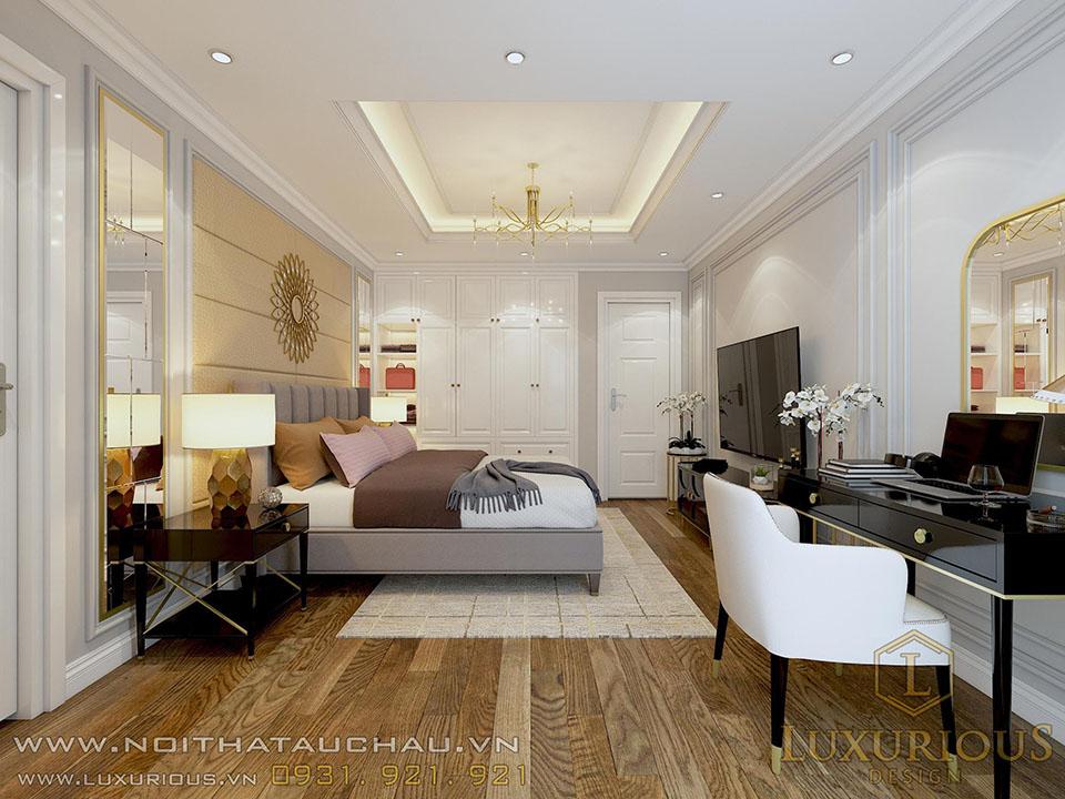 Mẫu thiết kế phòng Master chung cư tân cổ điển
