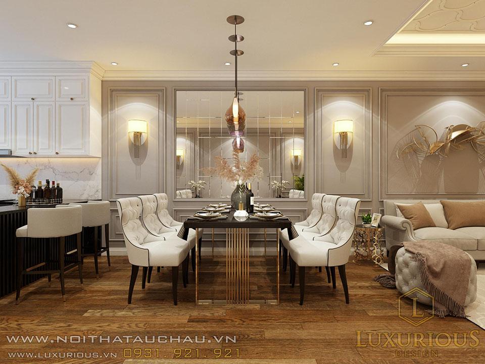Thiết kế phòng bếp chung cư sang trọng