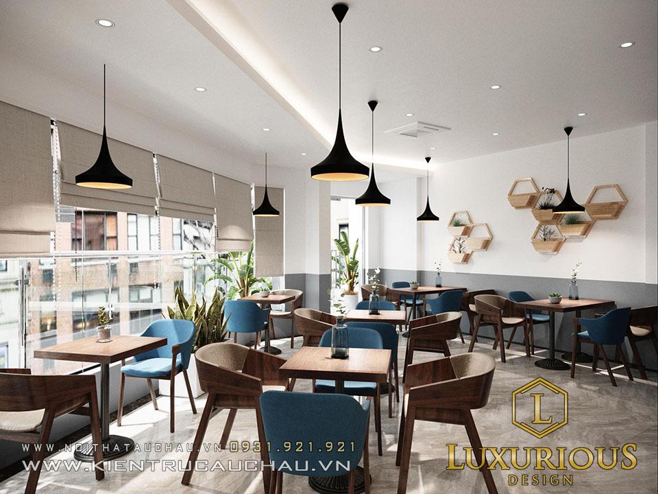 Mẫu thiết kế nội thất nhà phố kế hợp kinh doanh quán Cafe
