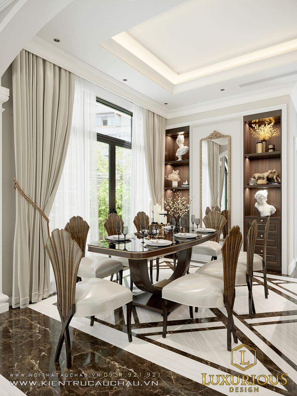 Mẫu thiết kế nội thất phòng bếp biệt thự Vinhomes Ocean Park