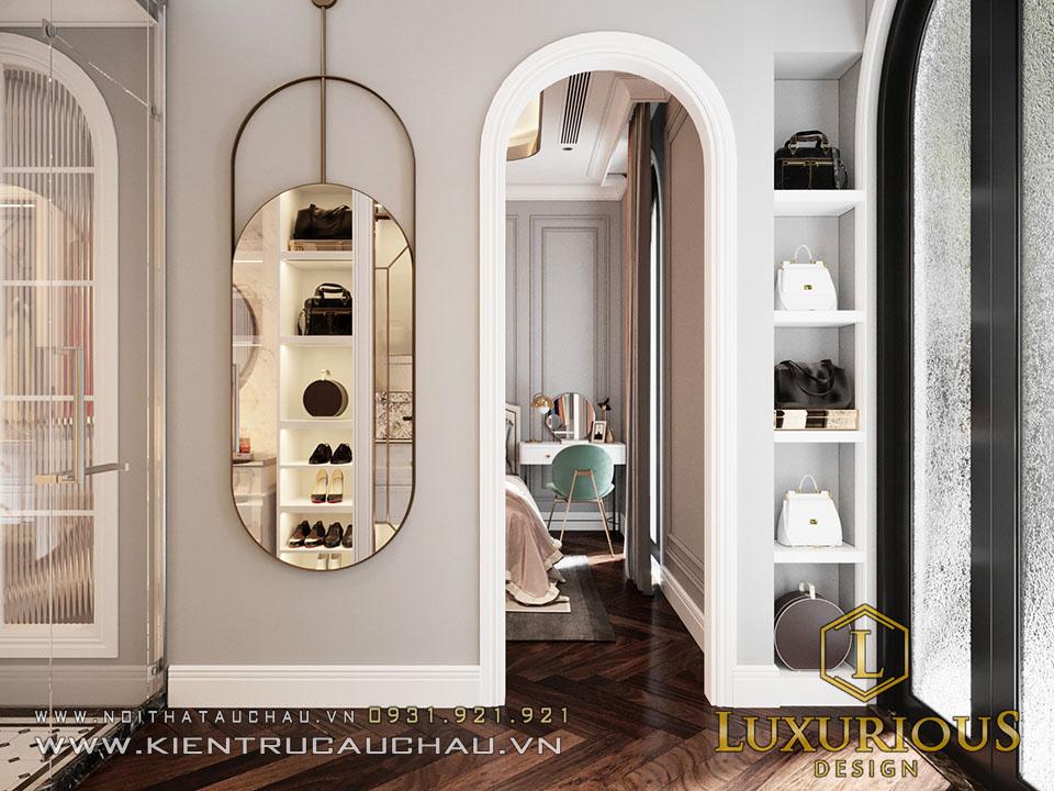 Mẫu thiết kế phòng ngủ tân cổ điển Vinhomes