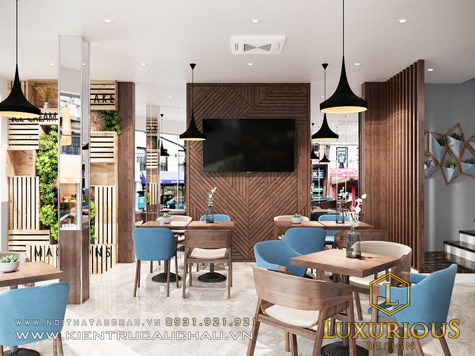 Mẫu thiết kế quán Cafe kết hợp nhà phố
